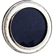 Vintage Small Round Picture Frame Sterling Silver Italy