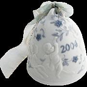 Lladro Porcelain Christmas Bell 2004 Hand Made Spain