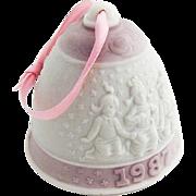 Lladro Porcelain Christmas Bell Ornament 1987 Hand Made Spain