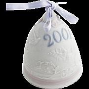 Lladro Porcelain Christmas Bell Ornament 2001 Hand Made Spain