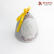 Lladro Porcelain Christmas Bell Ornament 2003 Hand Made Spain