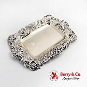 Openwork Baroque Ice Cream Tray Gilt Interior Shreve Co Sterling Silver 1885