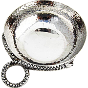 Hand Made Wine Taster Taste Vin Snake Handle TANE Sterling Silver Mexico