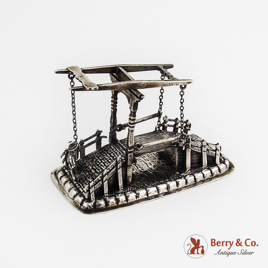 Miniature Drawbridge Dutch 833 Standard Silver 1900