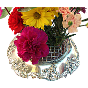 Tiffany Floral Art Nouveau Centerpiece Bowl Frog and Liner Sterling Silver 1907