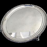 W K Vanderslice Footed Salver San Francisco Coin Silver 1870