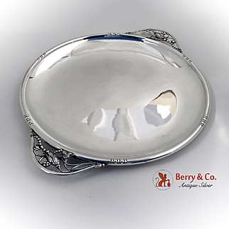 Blossom Tray Arts and Crafts American 1940 Sterling Silver