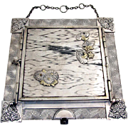 Aesthetic Triple Dresser Table Mirror Applied Flowers Derby Silverplate Pat 1888
