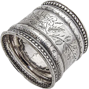 Antique Napkin Ring Coin Silver Wood and Hughes 1880