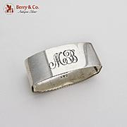 Vintage Napkin Ring Sterling Silver Lunt 1950