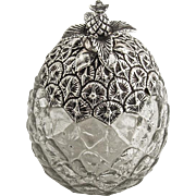 Pineapple Form Jar Sterling Silver Glass Gorham Silversmiths 1900