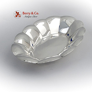 Tiffany and Co Bread Tray Fluted Edge Mid Century Sterling Silver