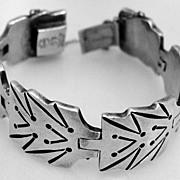 Mexican Designer Bracelet A. Munoz Sterling Silver 1945