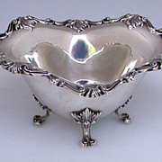 Footed Sauce Boat Ornate Shell Scroll Towle Sterling Silver 1910