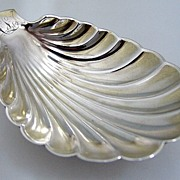 Whiting Shell Serving Dish Footed Sterling Silver 1885