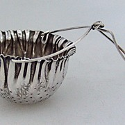 Tea Strainer Basket Spout Gorham Sterling Silver 1890