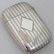 Art Deco Match Safe William Kerr No Monograms 1928