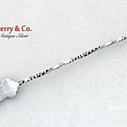 Gorham Medallion Pickle Fork Twist Handle 1880 Sterling Silver