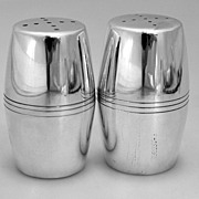 Porter Blanchard Salt & Pepper Shakers Large Sterling Handmade 1940