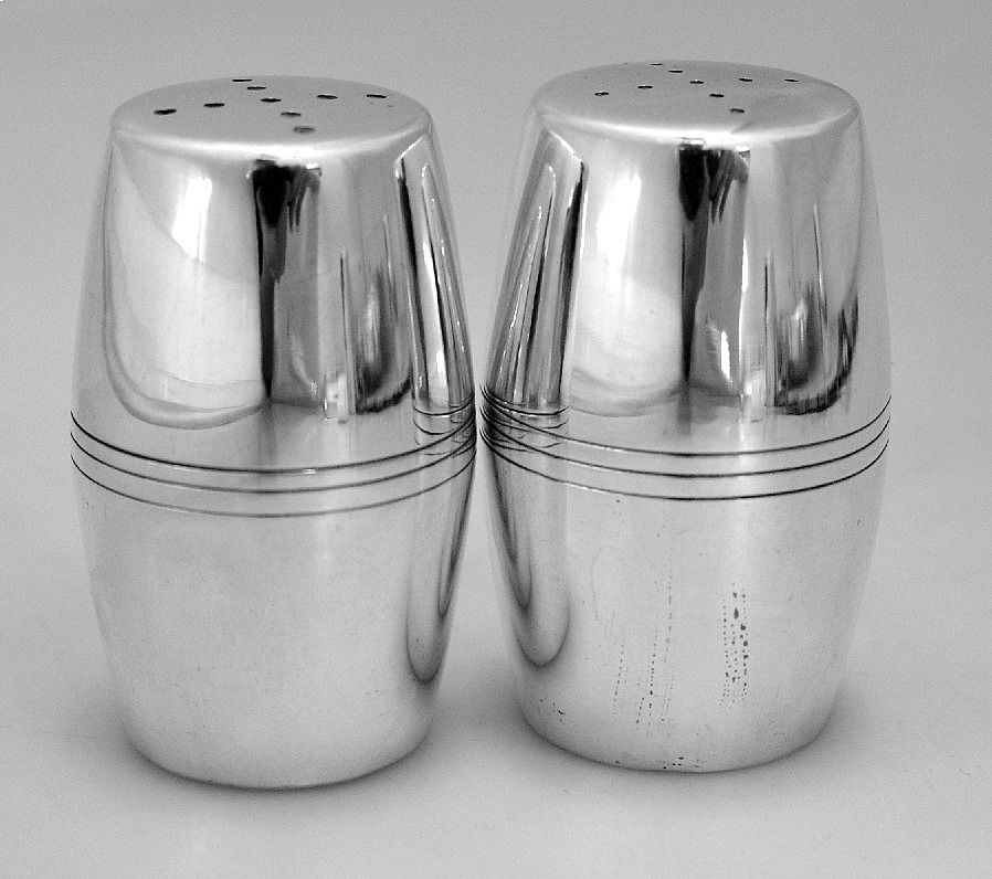 Porter Blanchard Salt & Pepper Shakers Large Sterling Handmade 1940 ...