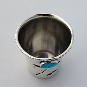 Vodka Shot Turquoise Blackinton Sterling Silver