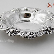 Gorham Rose And Scroll Bon Bon Dish Sterling Silver 1956