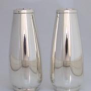 Art Moderne Salt Pepper Shakers Large International Sterling SIlver S139