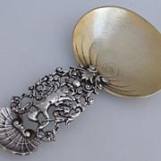 Caryatid Shell Bon Bon Scoop 450 Gorham 1885 Sterling Silver
