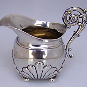 Baroque Creamer Northern European 800 Silver 1840