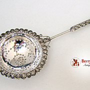 Tea Strainer Ornate Middle Eastern Sterling Silver 1920