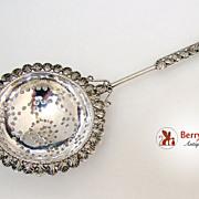 Tea Strainer Ornate Middle Eastern Sterling Silver 1920