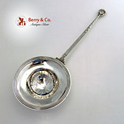 Gebelein Tea or Punch Strainer Sterling Silver 1925