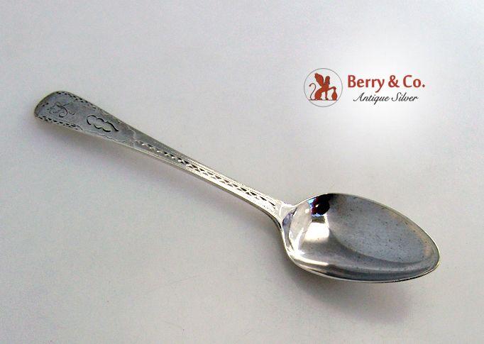 John Langlands II Coffee Spoon Newcastle 1800 Sterling Silver