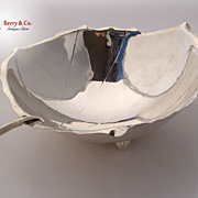 Sciarrotta Leaf Bowl Hand Made Large 1950 Sterling Silver