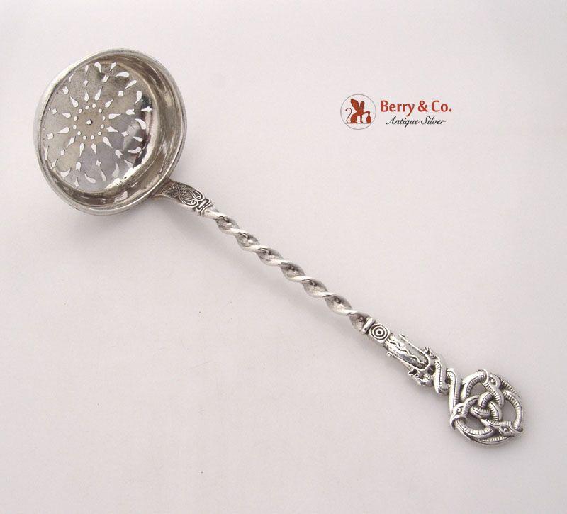 Celtic Dragon Pierced Ladle Danish 830 Silver A Fleron Copenhagen 1898