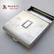 Match Book Cover Hinged Arts and Crafts William Kerr Hammered Sterling Silver 1910 No Monograms