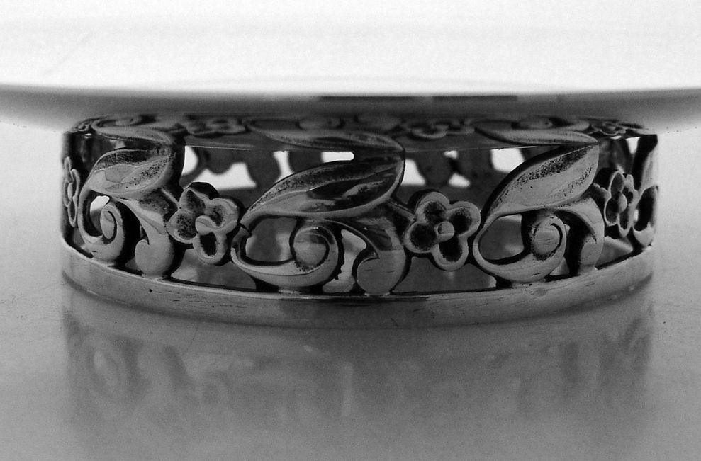 Baldwin And Miller Sterling Silver Ornate Dish Jensen Style 1940