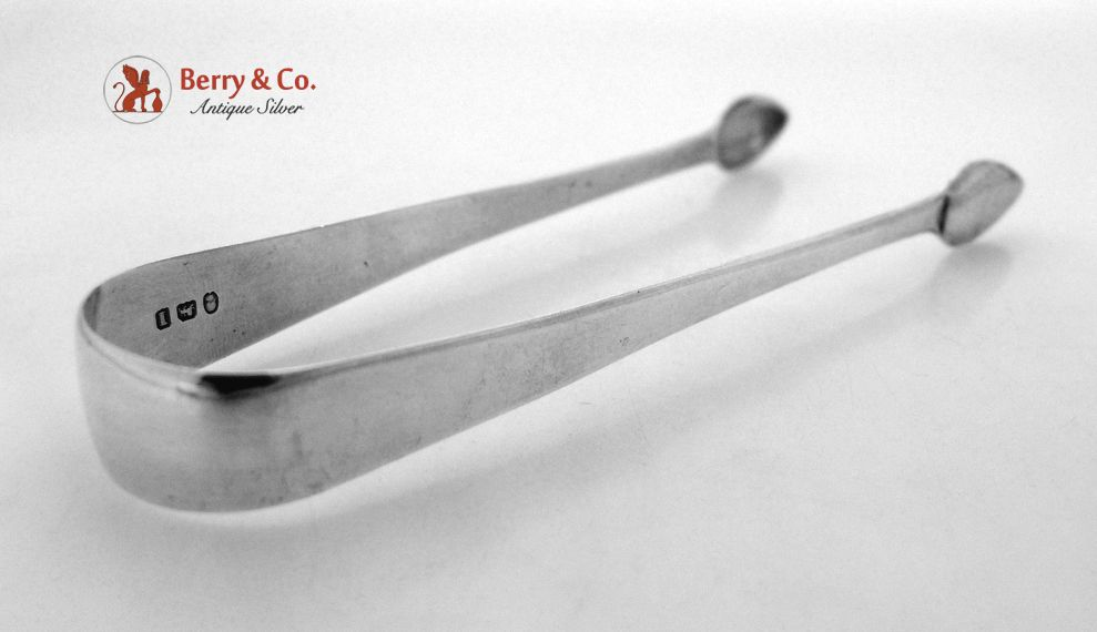 Georgian Sterling Silver Tongs London 1804