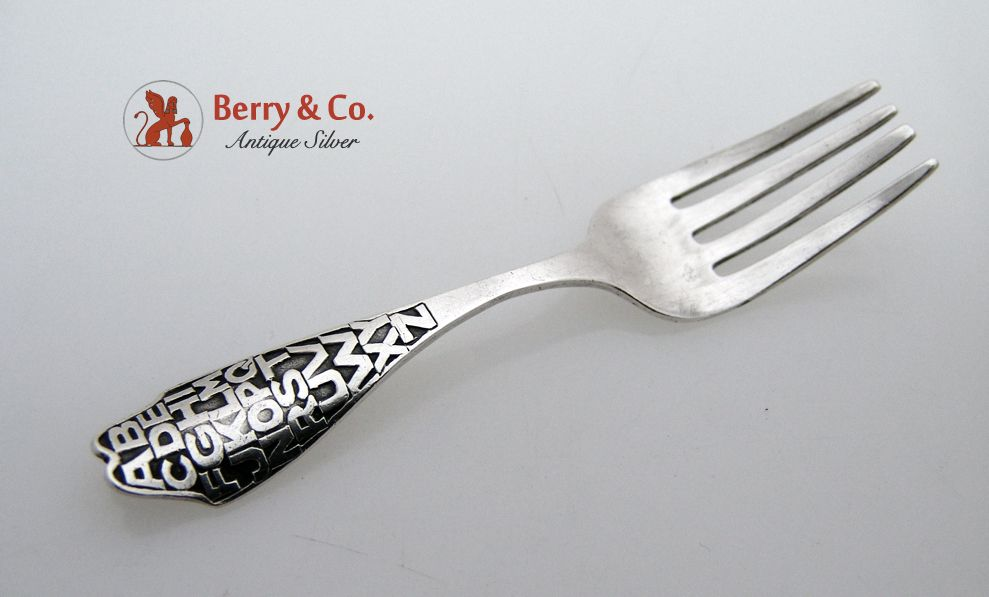 Alphabet Baby Fork Sterling Silver 1920 No Monograms
