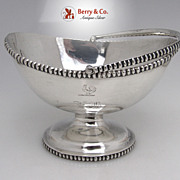 Swing Handle Basket Elongated Beading Coin Silver Eoff Shepard 1855 Monogram ED Rooster
