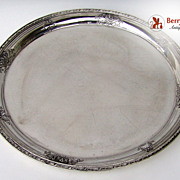 Navarre Wallace 12 inch Round Tray Sterling Silver 1908 No Monogram
