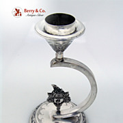 Unusual Persian Silver Candlestick 1900