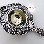Dutch Solid Silver Tea Strainer 1890s