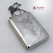 Ladies Sterling Silver Purse / Compact Blackington 1900