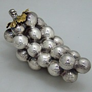 Grapes Sterling Silver Art Moderne 1960