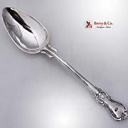 Swedish Large Ornate Prince Albert Platter or Stuffing Spoon 833 Solid Silver 1866
