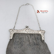 Ladies' Evening Mesh Purse Sterling Silver 1920