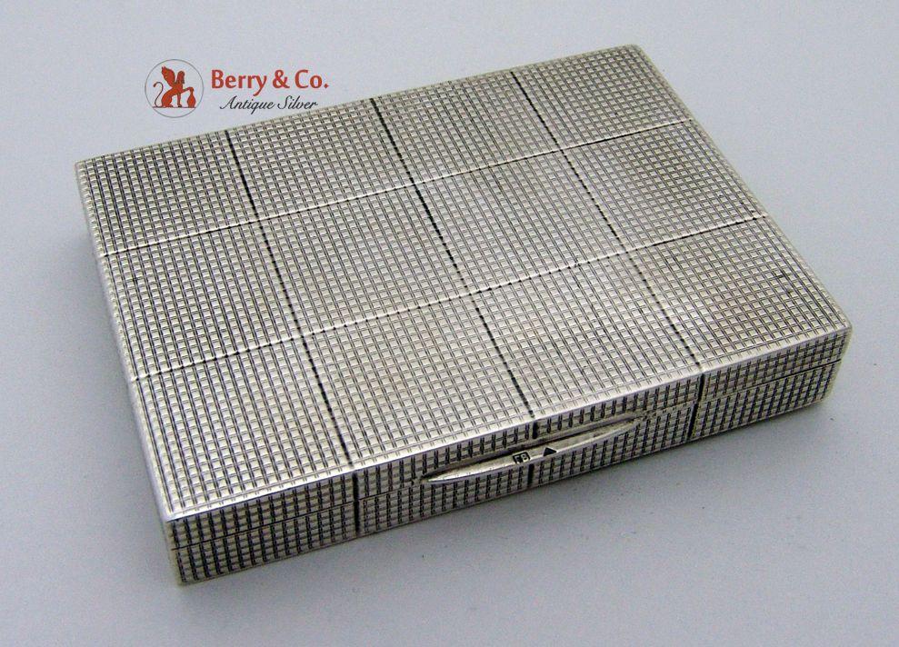 Plaid Solid Silver Rectangular Box 1930