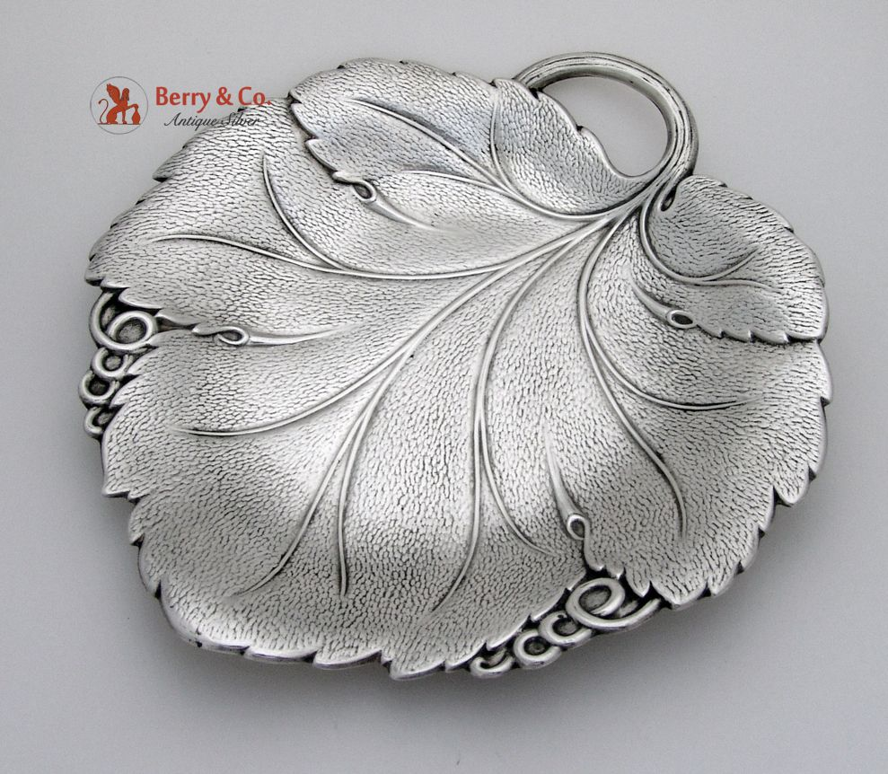 Grape Leaf Plate Sterling Silver Reed And Barton 1937