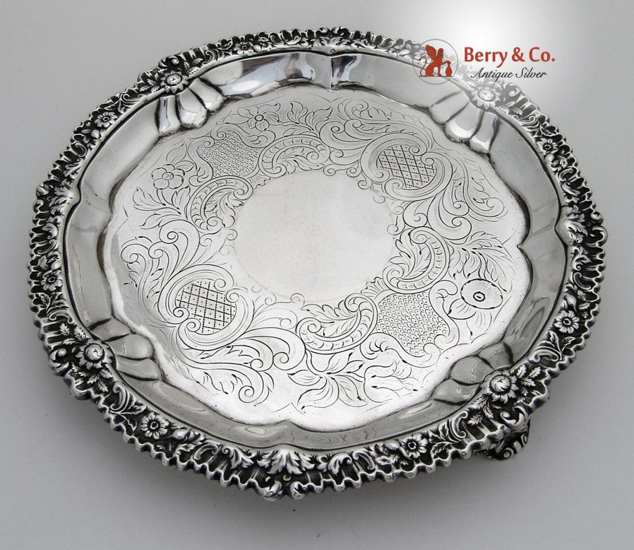 Georgian Salver Sterling Silver London 1820